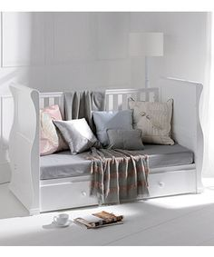 East Coast Nursery Alaska White Sleigh Cot Bed - White - cot beds - Mothercare