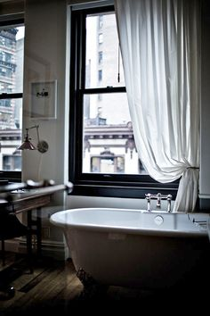 Gorgeous bathroom - NoMad New York from DustJacket