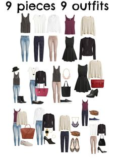 9 pieces 9 outfits http://www.berrytrendy.com/2015/02/9-pieces-9-outfits.html