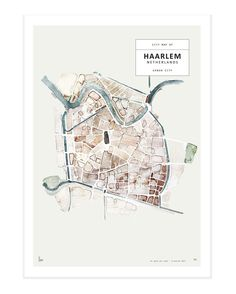 Urban city Haarlem - The Netherlands Watercolor painting printed on 250 g. fine art photo paper. Limited edition of 500. Signed by artist with handwritten numbering. SHIPPINGThe art print is sold unframed and carefully packed and shipped in a cardboard tube to avoid damage during shipping.