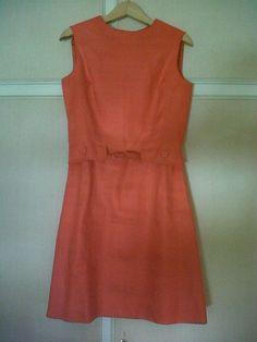 50s orange cotton dress
