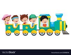 Of kids transportation Royalty Free Vector Image Kids Cartoon Characters, Cartoon Kids, Free Vector Images, Vector Free, Transportation For Kids, Embroidery Alphabet, Coloring Book Art, Bible Crafts, Signage Design