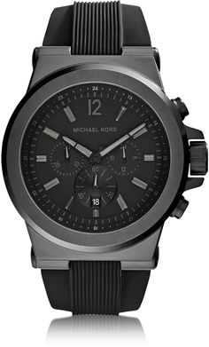 Michael Kors Dylan Black Stainless Steel Oversized Men's Chrono Watch