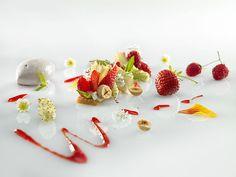 @ Restaurant Mirazur. 30 Avenue Aristide Briand, 06500 Menton, France. #relaischateaux #strawberry #raspberry #banana #dessert