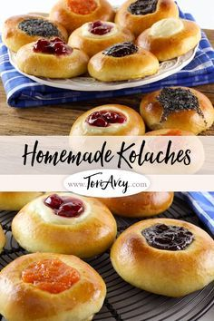 American Cakes: Kolache - Learn the history of Czech kolaches, then try a traditional recipe with fillings and posipka from food historian Gil Marks Czech Desserts, Köstliche Desserts, Delicious Desserts, Dessert Recipes, Yummy Food, Cake Recipes, Brunch Recipes, Sweet Recipes, Breakfast Recipes