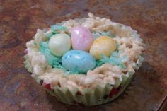 Easter Nest Rice Krispies Treats. Photo by QueenJellyBean