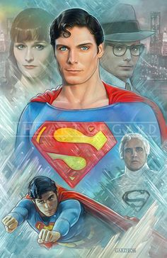 """Whether DC or Marvel, all superheroes movies owe a great debt to """"Superman The Movie"""" Superman Artwork, Superman Movies, Superman Family, Superman Man Of Steel, My Superman, Superman Poster, Superman Images, Steel Dc Comics, Christopher Reeve Superman"""