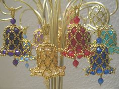 Gorgeous Colours with All Round Gold Lattice Beading <3