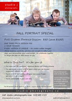 fall family portrait special kitchener waterloo cambridge guelph - in case you need some family pics