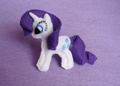 My little pony felt brooch Rarity by LiliBoboCrafts on Etsy, $18.00