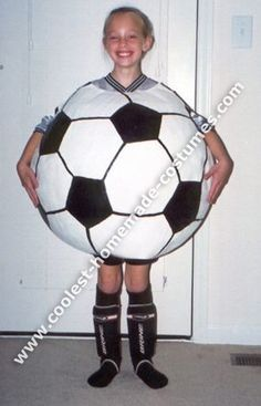 Halloween 2004 Coolest Homemade Costume Contest Runner-Up. Soccer Ball costume submitted by Lori from Fuquay-Varina, NC...