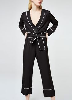 Uterqüe Sweden Product Page - Ready to wear - Jumpsuits - Pyjama-style jumpsuit - 1590