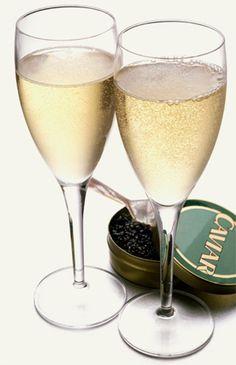 caviar champagne