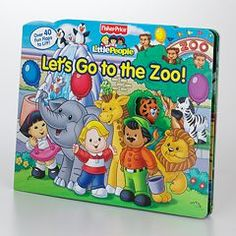 """Fisher-Price Little People """"Let's Go to the Zoo!"""" Lift-the-Flap Book"""