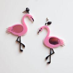 Pink Flamingo Earring