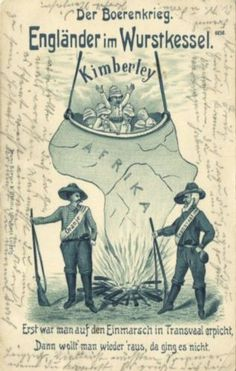 BOER-WAR-Caricature-English-in-Sausage-Boiler-at-Kimberley-1901-Stamp