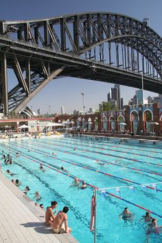 Australia - The North Sydney Olympic Swimming Pool by gordonbell Olympic Swimming, Australia Travel, Western Australia, Queensland Australia, South Australia, Australia Photos, Airlie Beach, Wanderlust, Sydney Harbour Bridge