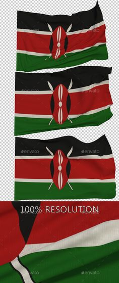 Hello Everyone. This is my new Flag of Kenya. Hope you find it useful! 3 PNG images with Alpha and 3 copy in low resolution Resol