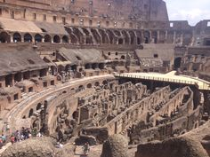 Inside the Colusseum. Rome