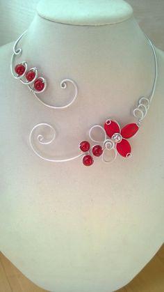 Wedding jewelry Prom jewelry Alu wire par LesBijouxLibellule