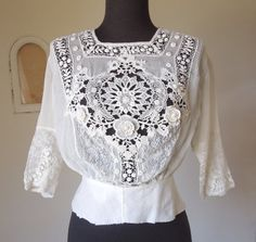Vintage Antique Victorian Shirtwaist White by momodeluxevintage, $125.00