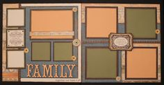 Family ~ Traditionally designed two page heritage layout that can scrap a lot of those old photos! *Click on photo to enlarge.