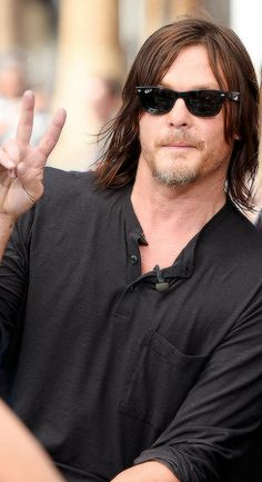 Norman Reedus visits 'Extra' on June 3, 2016 in Universal City, California