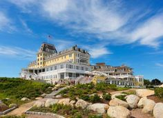 RHODE ISLAND: THE OCEAN HOUSE, WATCH HILL - The beachy yet sophisticated Ocean House opened in 1868 right after the Civil War and served as a summer retreat for America's aristocrats. The historic building was condemned in 2003 but reopened in 2010 fully restored. The hotel is known for its sunny yellow facade and its views of the Atlantic.