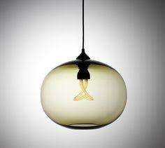 Baby Plumen bulb in globe pendant.