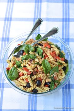Italian White Bean Pasta | Scrumptiouslyskinny.com - A great vegetarian pasta to toss together in the summer!