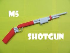 How to Make a Paper M5 Mattle Nickel Shotgun that shoots rubber bands - YouTube