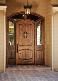 Love these doors with speakeasy and grille