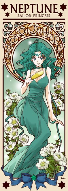 Princess Sailor Neptune by Tsuki-kioku. Sailor Moon