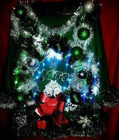 Ugly Christmas Sweater JETS! JETS! JETS! – sacs ugly christmas sweaters couture