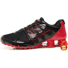 http://www.asneakers4u.com Mens Nike Shox Agent Black Red