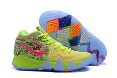 63c0a0956 This Nike Kyrie 4 is basically covered in a mixture of bright colors  throughout while sporting