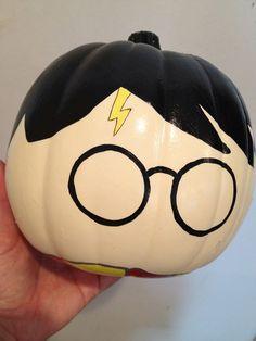 Harry Potter Painted Pumpkin - Halloween. $18.00, via Etsy.