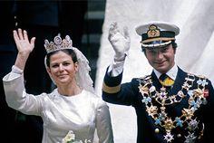 King Carl XVI Gustaf married Silvia Sommerlath on 19 June 1976 at Stockholm Cathedral - Sveriges Kungahus