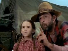 Mr. Edwards teaching Laura how to spit (Little House on the Prairie)