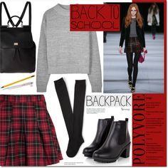 School This Fall by naomimjc on Polyvore featuring moda, H&M, Aéropostale, Dolce&Gabbana and Swarovski