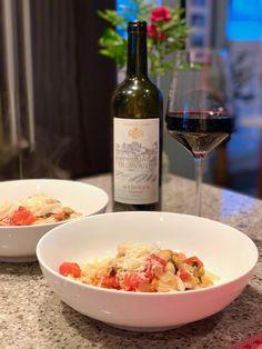 Seafood Pasta and Tannat Wine