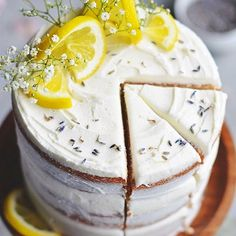 weekend baking plans » lemon layer cake! it's seriously the easiest thing!! 🍋💛