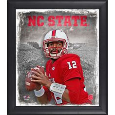 """Jacoby Brissett North Carolina State Wolfpack Fanatics Authentic Framed 15"""" x 17"""" Playmaker Collage - $49.99"""