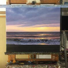 Amanecer. Óleo / lienzo 61x50cm. #art #arte #artwork #malaga #amanecer #roblesdelacruz #oilpainting #oleo #seascape #fineart #seascapepainting #mar