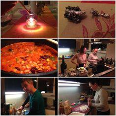 Bei #ESSENTIAE hat es für die #Silvesternacht ein #veganes #Chili gegeben. Mit vereinten Kräften hat die Zubereitung besonders viel Spaß gemacht! Vegan Chili, Backdrops