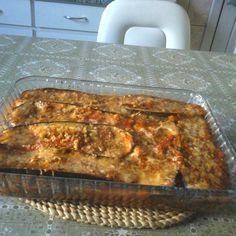 Receita de Carne moída com berinjela gratinada. Enviada por Tati Ibanez e demora apenas 50 minutos.