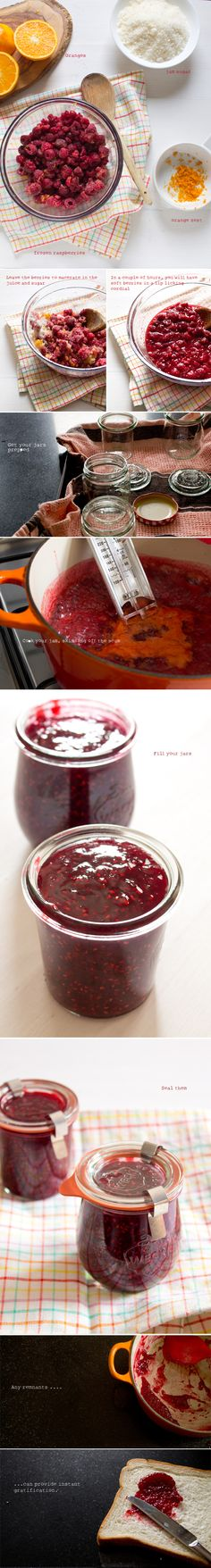 Raspberry and Orange Jam