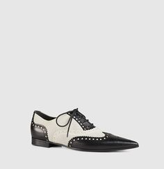 Gucci - gia leather brogue lace-up shoe 388424C9DN01088