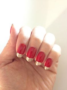 Red and gold - Nails Inc Victoria and Albert with Culford Gardens