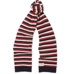 Oliver Spencer Benu Striped Wool Scarf